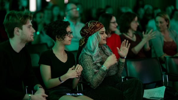 Young Producers audience at Songs of Sign Language event